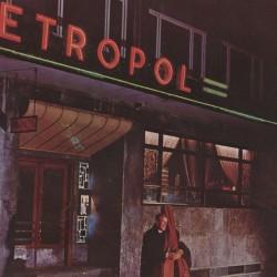 Utsnitt av platecoveret Metropol Jazz-Jazz sounds from Norway. Kilde: Nasjonalmuseet for kunst, arkitektur og design, The Design Collections.