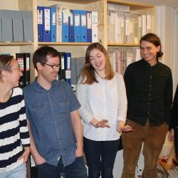 Skeivt arkivs medarbeidere, prosjektleder og initiativtaker. Foto: Karl Kristian Langeland for På Høyden.