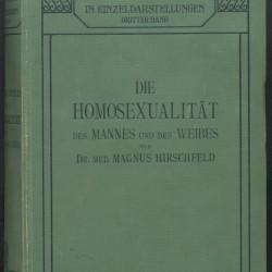 Boken Die Homosexualität des Mannes und des Weibes, utgitt av Magnus Hirschfeld i 1914.