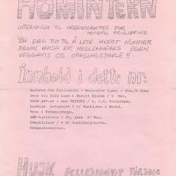 Forside av Homintern, april/mai-utgaven 1978.