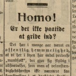 Arbeidet homoseksualitet homoskandale Fridtjof Sundt