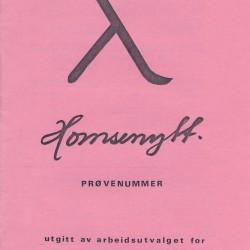 Forsiden til prøvenummeret av Homsenytt, som kom ut i 1979.