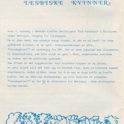 Torsdagstreffene annonseres i LF-Avisa 1/84