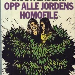 Omslaget til 2. opplag av Gerd Brantenbergs debutroman Opp alle jordens homofile (1973)
