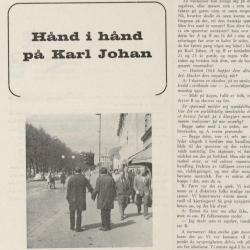 Hånd i hånd på Karl Johan. Artikkelen i OSS Norsk homofilt tidsskrift i 1969