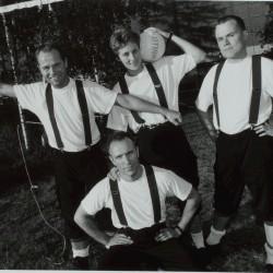 Fra venstre: Morten Johansen, Håkon Dahle, Inger Hastum, Stein Johnsen. Foto: Mimsy Møller, 1994.