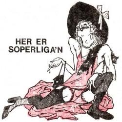 Illustrasjon fra brosjyre om Soperliga'n, tegnet av Hans Petter Harboe.